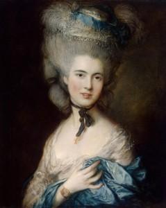 Gainsborough, Thomas – Portrait of a Lady in Blue