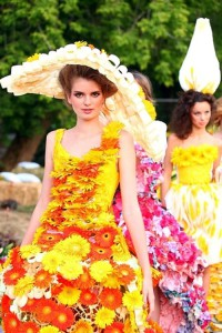 Manifestation of colors – Flower Dress show in Moscow