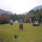 Sculptural compositions decorate the natural art museum called Hakone