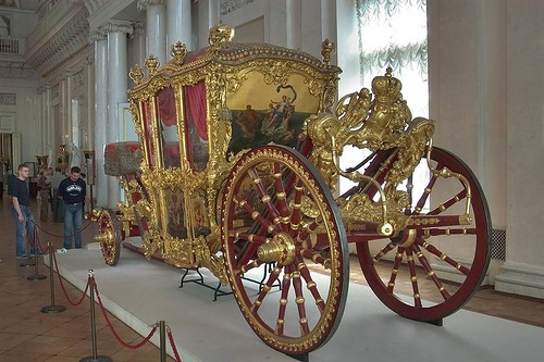 'Big' French coach, 1720s. Manufacture des Gobelins, Paris