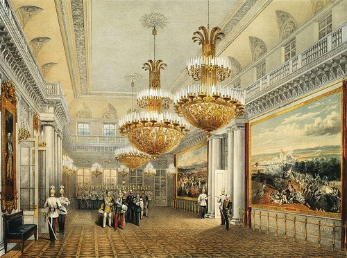 Field Marshal Hall. Winter Palace. Sadovnikov Vasily Semenovich