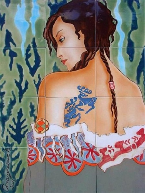 Beautiful 2500 year-old tattoos of Siberian Princess Ukok