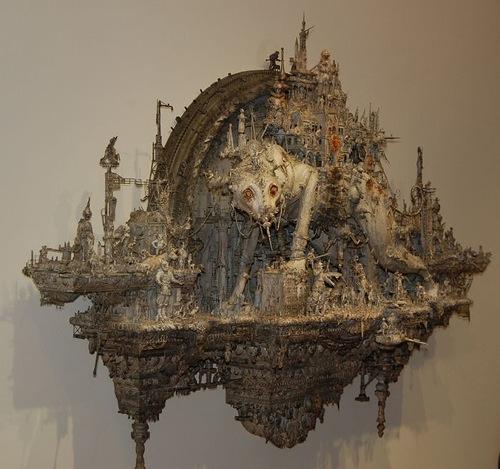 Monster city. Art by Kris Kuksi