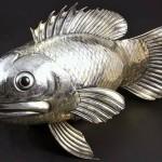 Fish. Impressive silver sculpture. Gianmaria Buccellati