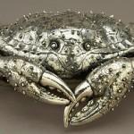 Crab (jewellery box). Gianmaria Buccellati silver sculpture