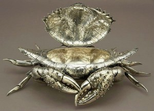 Opened jewellery box Crab. Gianmaria Buccellati