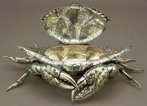 Opened jewellery box Crab. Gianmaria Buccellati