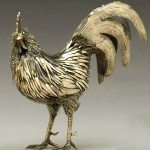 A golden rooster. Gianmaria Buccellati