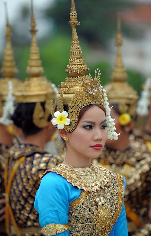 A Cambodian dancer
