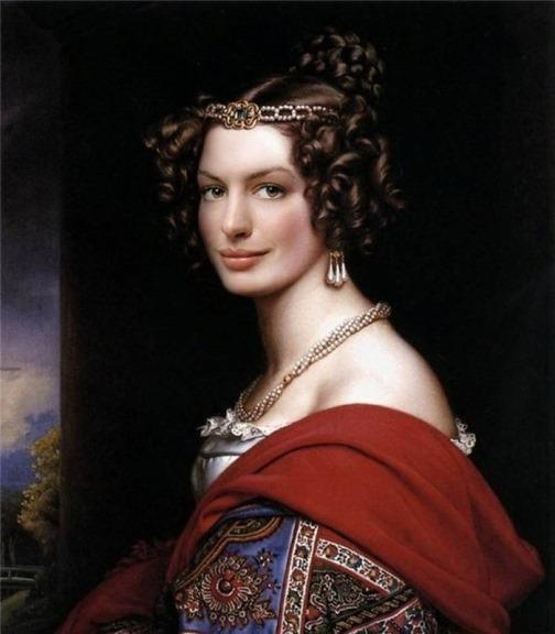 Anne Hathaway as Amalie von Schintling by Joseph Stieler
