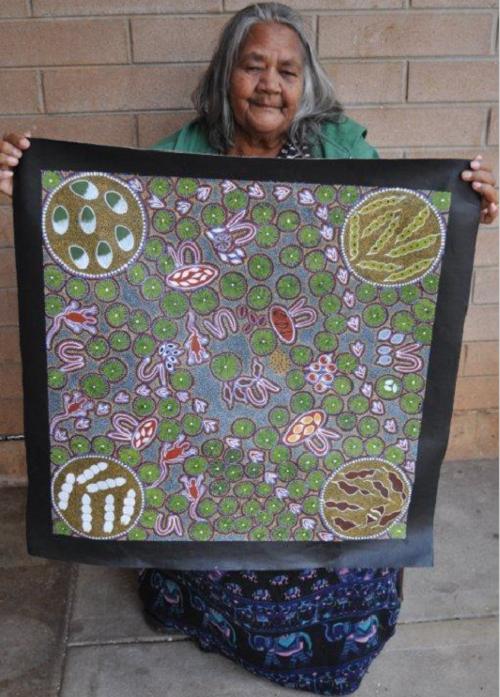 Australian artist Margaret Davis Kemarre