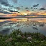 Stunning sunset. Beautiful nature by Aleksandr Danilin
