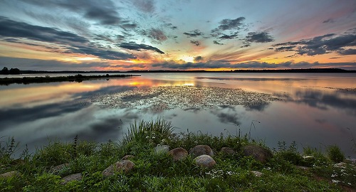 Stunning sunset. Beautiful nature by Aleksandr Danilin