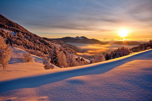 Last rays. Beautiful landscapes by nature photographer Tomaz Benedicic