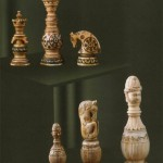 Figures from a chess set