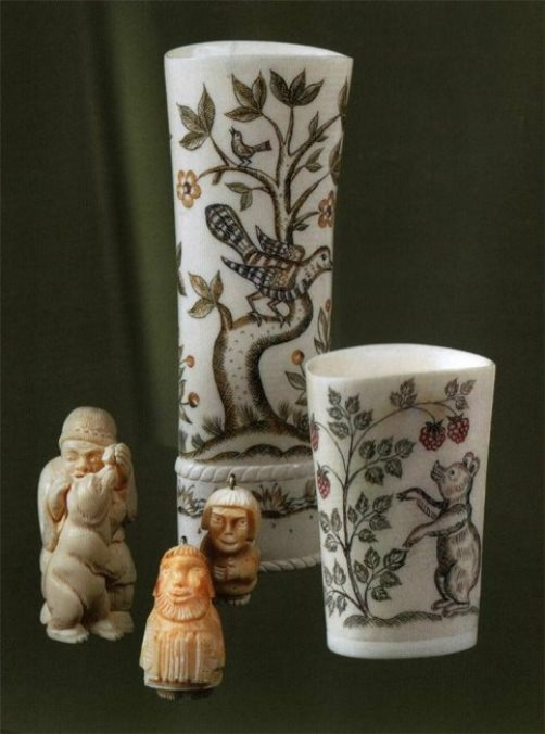 Miniature sculptures and vases