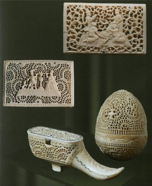 Beautiful bone carving from Kholmogory, Russia
