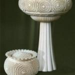 Vases. Kholmogory bone carving