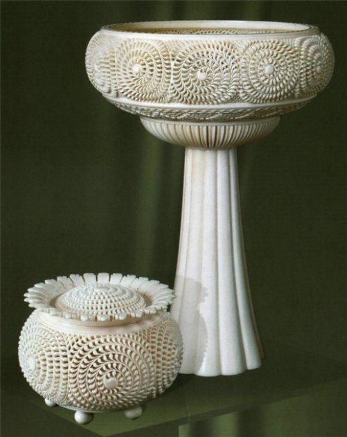Vases. Kholmogory bone carving