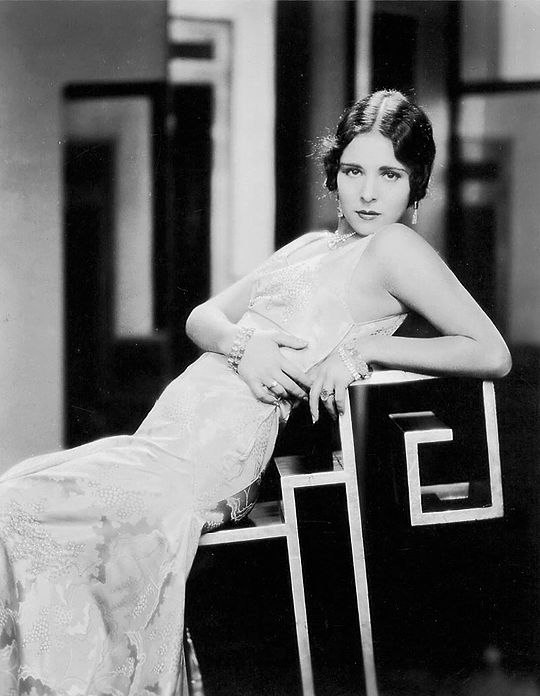 Bright and exotic, stunningly beautiful actress of silent film era Dorothy Janis