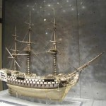 An example of British Navy ship model of human bones