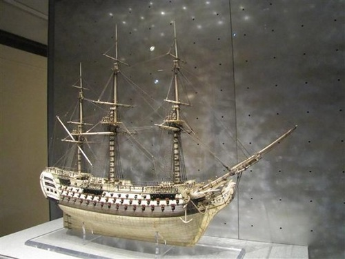 An example of British Navy ship model of human bones