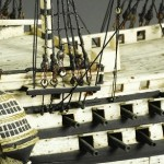 Example of skill and knowledge of the subject. British Navy ship models of human bones