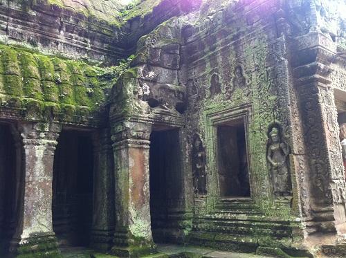 Cambodian Ta Prum (Ta Prohm) Temple complex