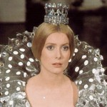 "Catherine Deneuve in beautiful dresses in ""Donkeyskin"" (Peau d'ane) 1970 movie"