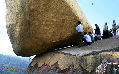 A popular pilgrimage and tourist attraction – the Golden Stone