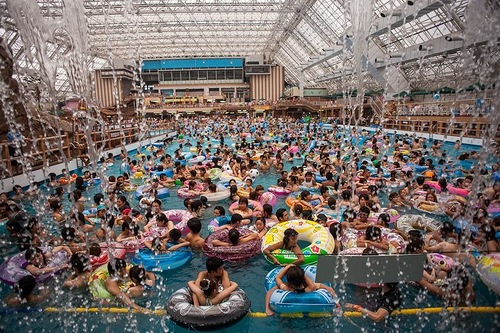 One of the most popular attractions in China – Swimming Pool
