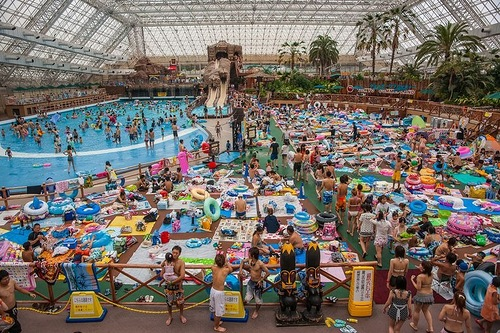 Crowded Japanese pool