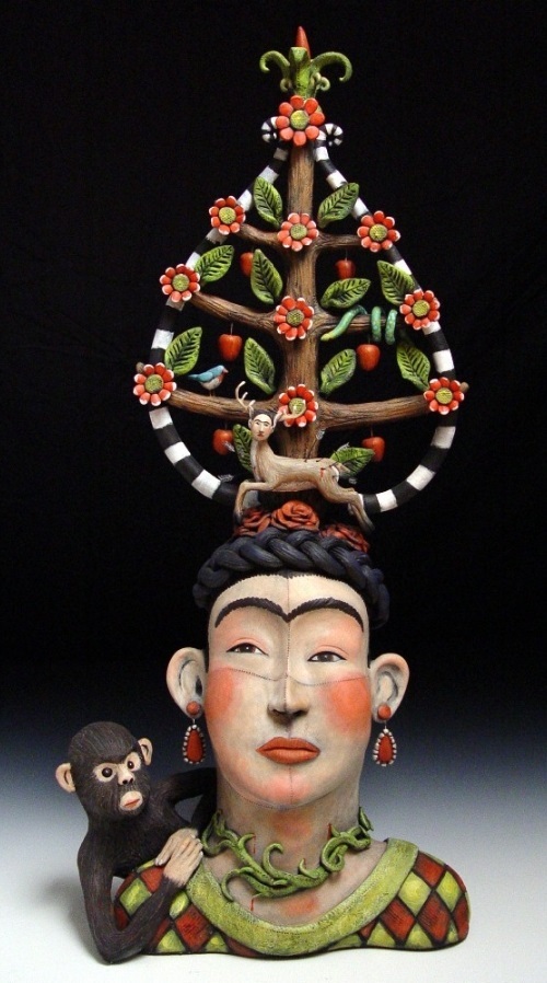 Fabulous Surreal Clay Sculpture by American artist Victoria Sexton