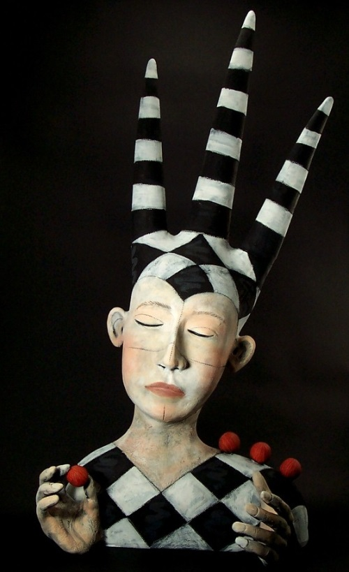 Surreal Clay Sculpture by American artist Victoria Sexton