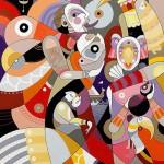 Colorful art by Brazilian artist Fernando Chamarelli