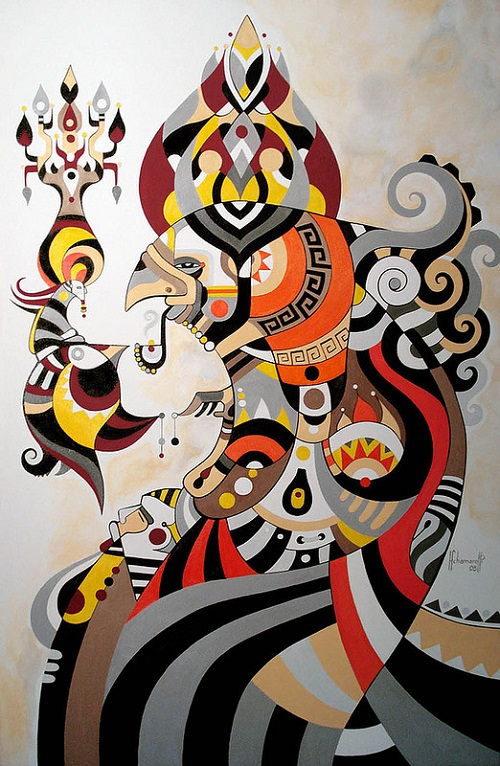 Colorful art by Brazilian artist Fernando Chamarelli