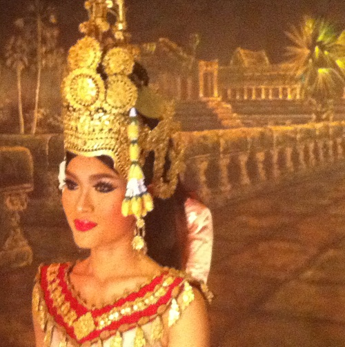 Author's photo. In the ancient Khmer capital of Angkor, Photo taken during the trip, August 2012