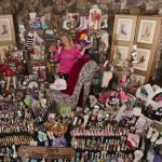 The owner of a unique collection of shoes, 57-year old American Darlene Flynn, California