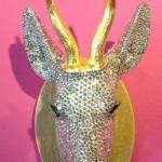 Dear Head, 2012. swarovski crystals, fiberglass, wood