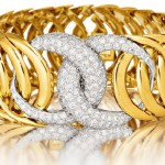Diamond and Gold 'Double-Crescent' Bracelet