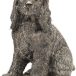 Dog Sterling Silver Sculpture, Buccellati