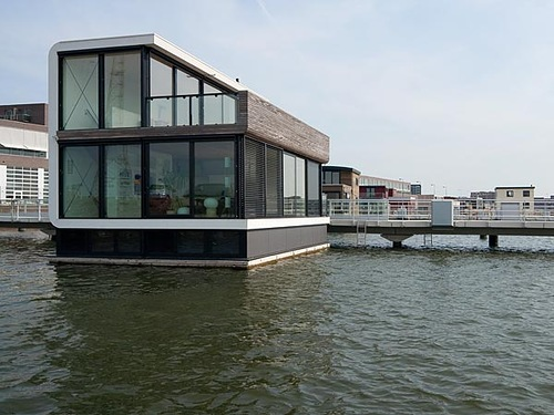 Floating Houses of the Future. Dutch architect Koen Olthuis designed this floating single-family water villa in Amsterdam