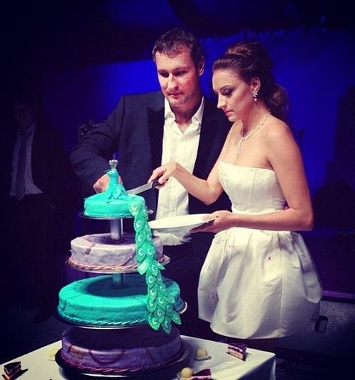 Igor and Evgeniya on their wedding day