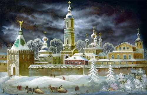 Fairy tale winter of Russia