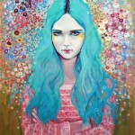 Blue hair. Female beauty in drawings by Australian artist Emma Uber