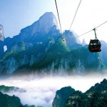 Glass Skywalk in Zhangjiajie National Forest Park in the Tianmen Mountain, China
