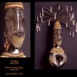 Coretta. Blown and sculpted glass art