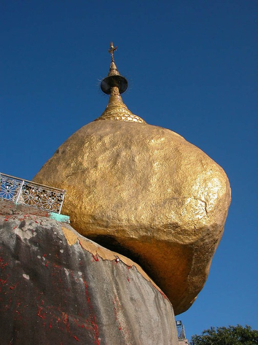 Golden Rock, one of the most sacred sites in Burma
