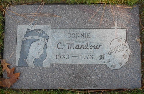 Grave of Winona Kim. Connie. C Marlow (Winona died in June 1978 at the age of 47)