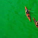 The river turns green on Saint Patrick's Day in Chicago